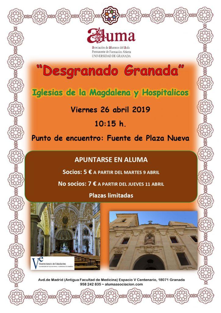 """""""Desgranando Granada"""" Iglesia de la Magdalena y Hospitalicos @ Iglesia de la Magdalena y Hospitalicos"""