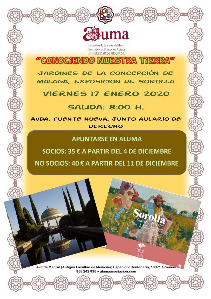 """""""Conociendo nuestra tierra"""" Exposición Sorolla y Jardín de la Concepción de Málaga."""