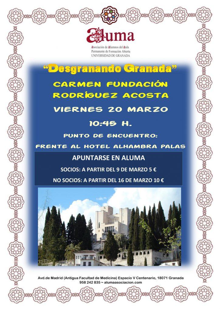 """""""Desgranando Granada"""" Carmen de la Fundación Rodríguez Acosta"""