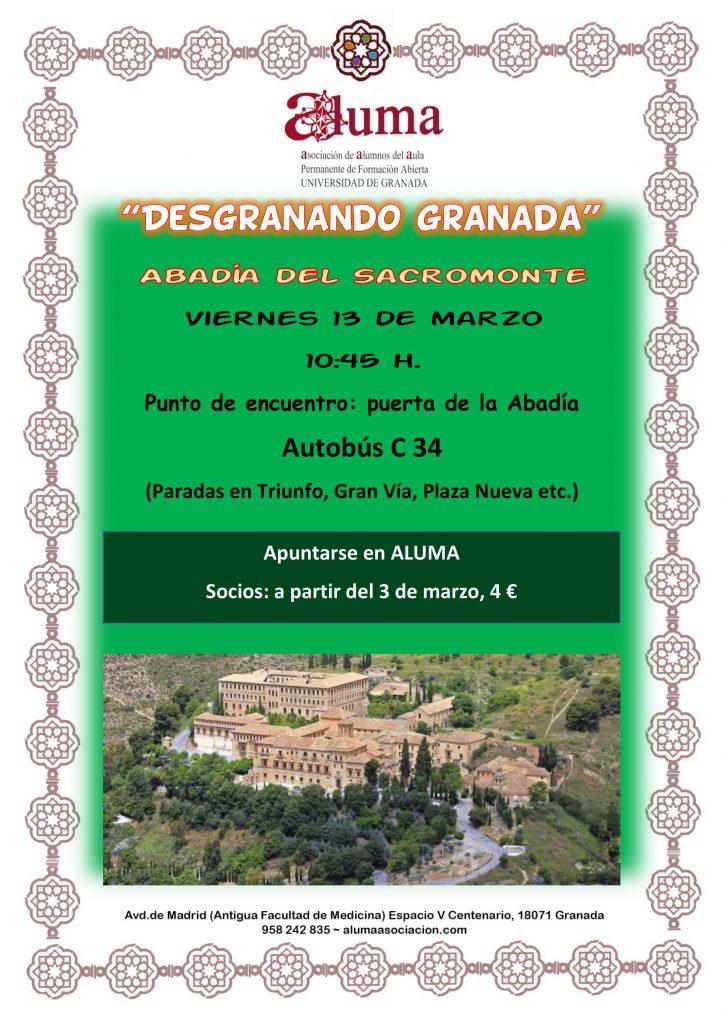 """""""Desgranando Granada"""" Abadía del Sacromonte"""