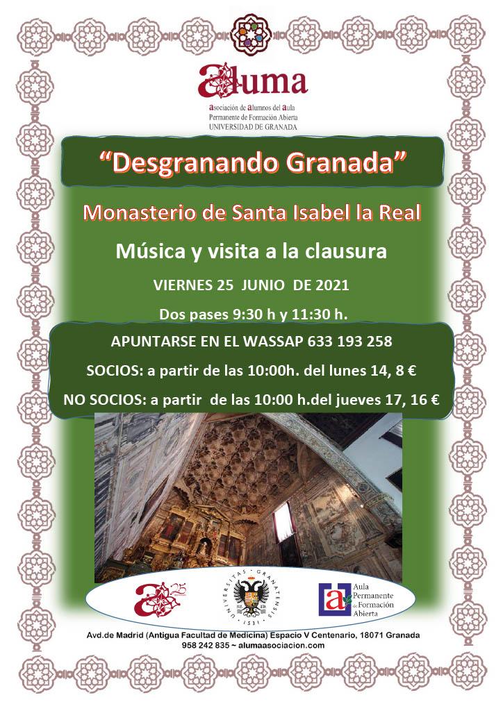 """""""Desgranando Granada"""" Monasterio de Santa Isabel la Real"""